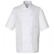 Куртка поварская,р.56 без пуклей, полиэстер,хлопок, белый