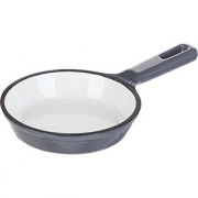 Сковорода порц. D=10, H=2.3см; серый, белый