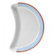 Блюдо-полумесяц «Рио Блю»; фарфор; L=25.5см; белый,синий