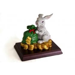 Статуэтка «Заяц с мешком денег»