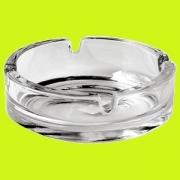 Пепельница [2шт], стекло, D=10.5см, прозр.