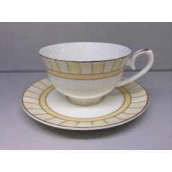 Набор чашек на 6 персон «Желтые дольки»