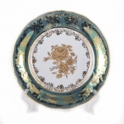 Набор тарелок 19 см. 6 шт. «Роза Зеленая»