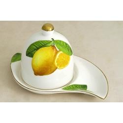 Тарелка для лимона с крышкой «Лимоны»