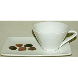 Чашка на блюдце-подносе 0.2 k