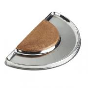 Доска барная, сталь,пластик, H=1,L=34,B=17см, металлич.,коричнев.