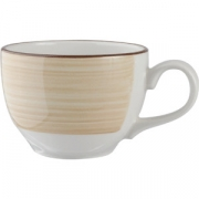 Чашка чайная «Чино» фарфор; 455мл; белый, бежев.
