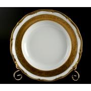 Набор тарелок «Лента золотая матовая 2» 24 см. 6 шт. глубокие