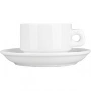 Пара чайная «Кунстверк» D=13см; белый