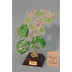 Бонсай с хризантемами зеленый, 18см.