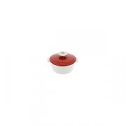 Кастрюля для сервировки с крышкой «Революшн» D=16.4, H=10.7см; белый, красный