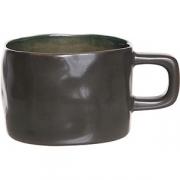 Чашка «Лагуна» керамика; 230мл; коричнев. ,зелен.