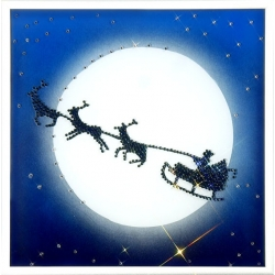 Рождественская сказка.Размер картины: 20х20 см.