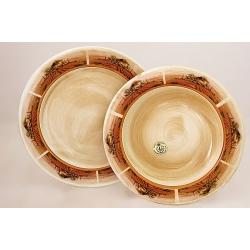 Набор тарелок: суповая и обеденная «Кьянти» Суповая - 23,5 см, обеденная - 25 см
