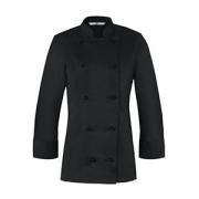 Куртка поварская женская 50разм., полиэстер,хлопок, черный