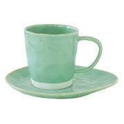 Чашка с блюдцем (мятный) Interiors без индивидуальной упаковки