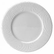 Тарелка «Оптик», фарфор, D=16см, белый