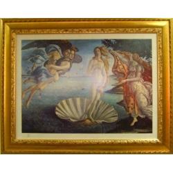 Панно в деревянной рамке «Рождение Венеры»,керамика,72х57см