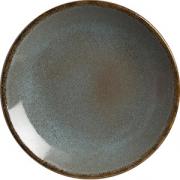Тарелка мелкая D=19см; голуб.
