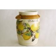 Керамическая подставка под кухонные инструменты «Итальянские лимоны»