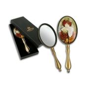 Зеркало ручное в подарочной упаковке, А. Муха, Рубин