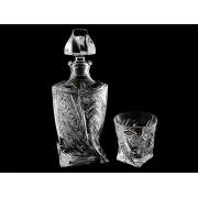 Набор для виски хрусталь (штоф+2 стак)