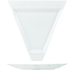 Тарелка треуг. «Максим» 25*26см фарфор