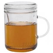 Чашка чайная «Цикло», стекло, 410мл, D=81,H=122,L=115мм, прозр.