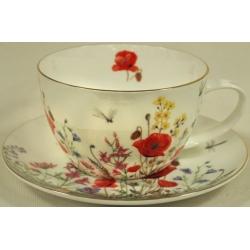 Чашка с блюдцем «Полевые цветы» 0.5 л