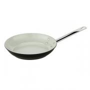 Сковорода, алюмин.,керамика, D=32,H=6,L=63см, металлич.,белый