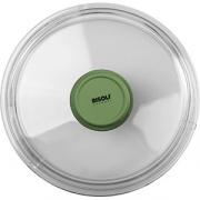 Крышка для сковороды «Д. Грин» D=28см; прозр. , зелен.