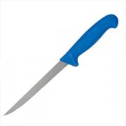 Нож рыбный голубая ручка, L=18см