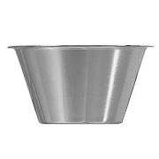 Миска; сталь нерж.; 300мл; D=105,H=65мм; металлич.