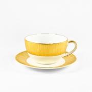 Чашка капуччино 0,33л с блюдцем 16см «Золотой бамбук»