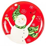 Блюдо круглое 38см «Снеговик»