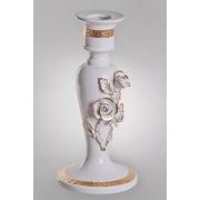 Подсвечник «Розы» 32 см. золото