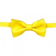 Бабочка для бармена кожа; желт.
