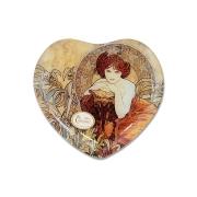 Тарелка в форме сердца Изумруд (А. Муха)