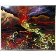 Извержение вулкана, 40х50 см, 1724 кристаллов
