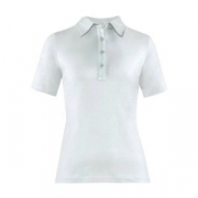 Рубашка поло женская,размер L, хлопок,эластан, белый