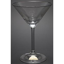 Рюмка для мартини 180 мл «Гала» декор платиновая кайма