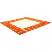 Тарелка «Сафари» 20*20см оранжевая