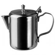 Молочник с крышкой «Проотель», сталь нерж., 260мл, D=65,H=100,B=125мм, металлич.