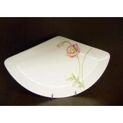 Блюдо треугольное L «Розовый мак»