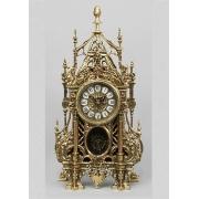 Часы «С ландышами» с маятником золотистый 46х24 см.