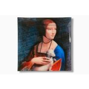 Тарелка квадратная Дама с горностаем (Л. Да Винчи)
