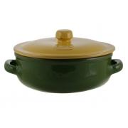 Сотейник 24 см круглый с желтой крышкой зеленый