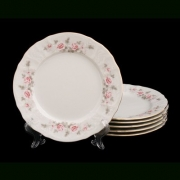 Набор тарелок 21 см. 6 шт «Роза серая 5396011»