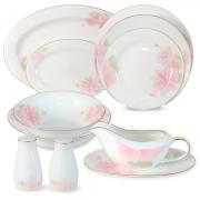 Обеденный сервиз Розовые цветы 50 предметов на 12 персон