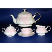Н 1070011 Ирис ПИНК сервиз чайный 6/17 ИМПЕРИАЛ (зол.лента)